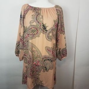 Forever 21 pink paisley designed flowy dress